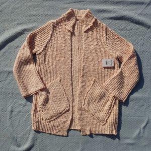 NWT Free People Chunky Knit Cardigan Peach XS